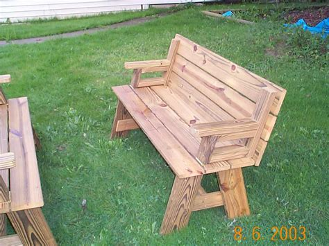 woodworking plans picnic table convertible picnic table plans free wood patio furniture
