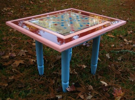 scrabble table childrens scrabble table upcycled treasures