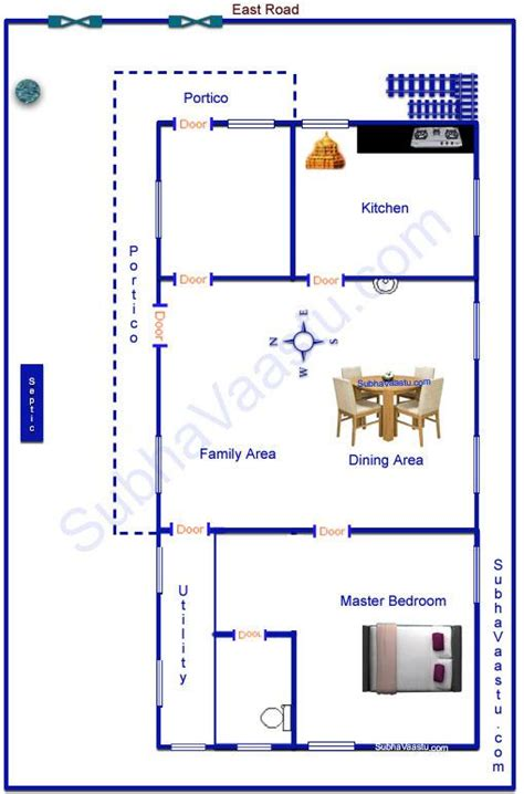 west facing house vastu floor plans east facing vaastu home plan subhavaastu