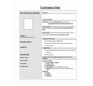 bca resume format fresher sample model download best cvs - Resume Format For Freshers Bca