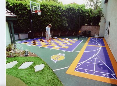 backyard court best 25 backyard sports ideas on backyard