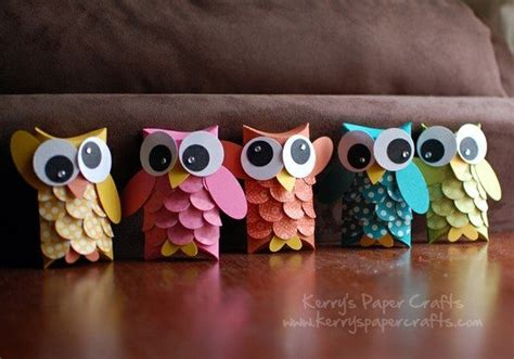 toilet paper owl craft math shape paper crafting ideas for owls