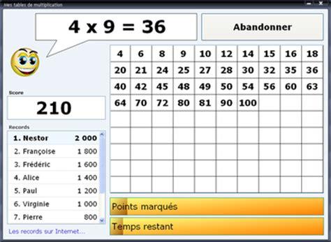jeu pc table de multiplication