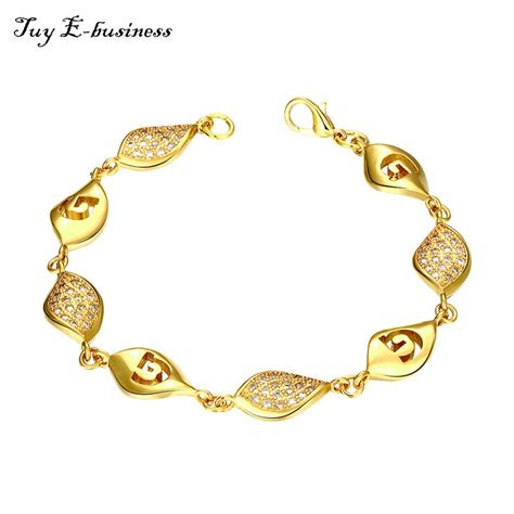 different for jewellery b009 gold platinum plated leaves inlaid cubic zircon