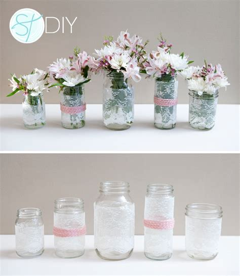 diy wedding centerpieces with jars lace covered jar wedding centerpieces budget
