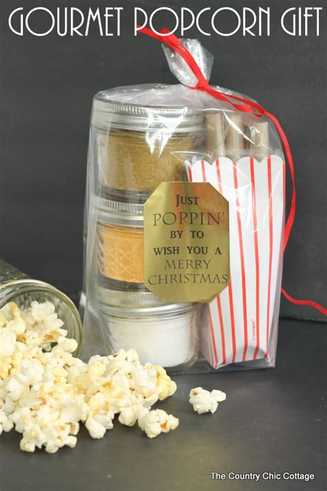 popcorn gifts gourmet popcorn gift in a jar the country chic cottage