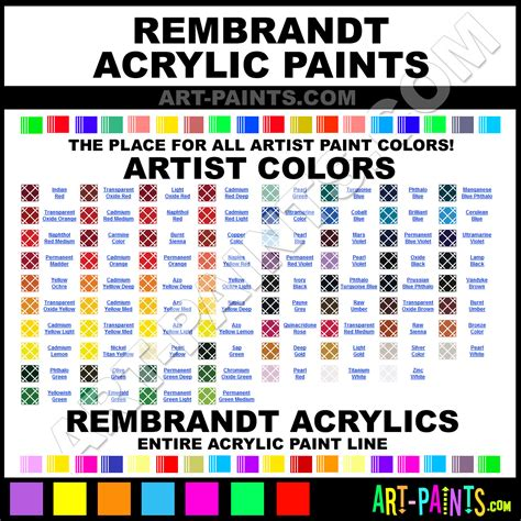 paint colors and their names rembrandt artist acrylic paint colors rembrandt artist