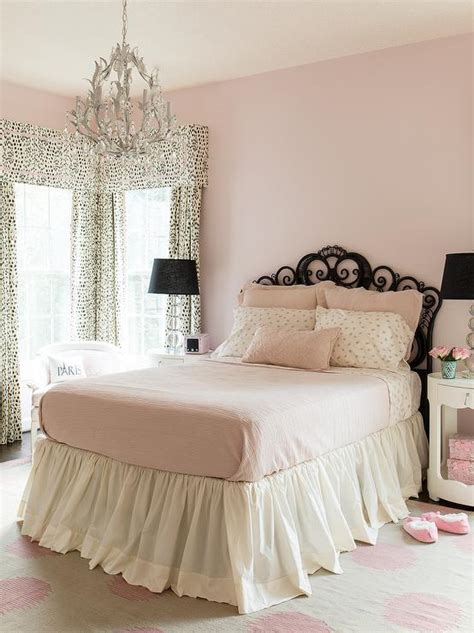 pink bedrooms pink and black bedroom transitional s room