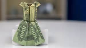 money origami tutorial money gift idea wedding dress dollar bill origami