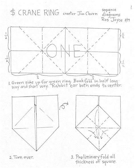 origami crane dollar bill bill dollar origami ring 171 embroidery origami