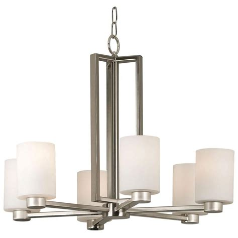 brushed steel chandelier hton bay oron 4 light brushed steel chandelier hdp12069