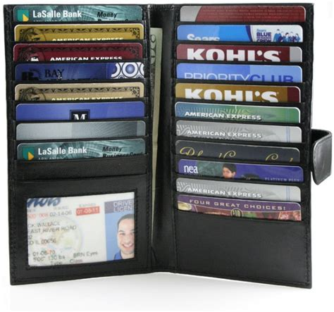 how to make a credit card wallet checkbook and credit card organizer wallet