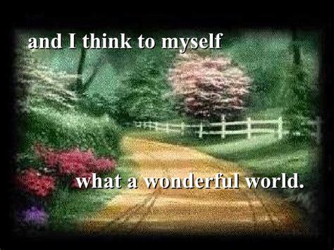 wonderful world what a wonderful world