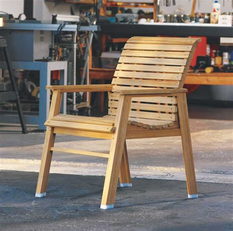 woodworking plans for outdoor furniture how to make a patio chair diy outdoor furniture tutorial