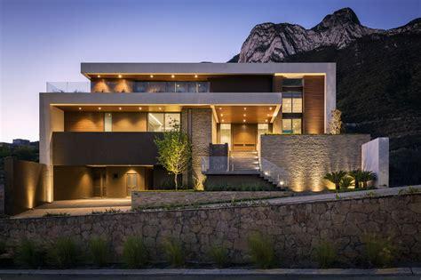 modern hous modern house on mountain modern house