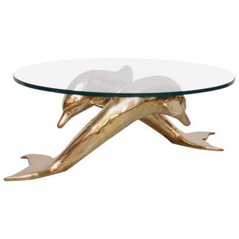 dolphin coffee table brass coffee table in form of two dolphins for sale at 1stdibs