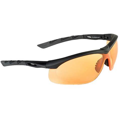 eye rubber st swiss eye lancer sunglasses orange lens black rubber