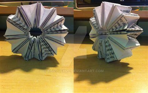 origami wheel origami accordion wheel by complexme on deviantart