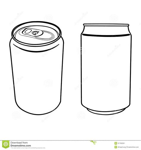 Beverage Can Outline Vector Stock Image   Image: 31792261