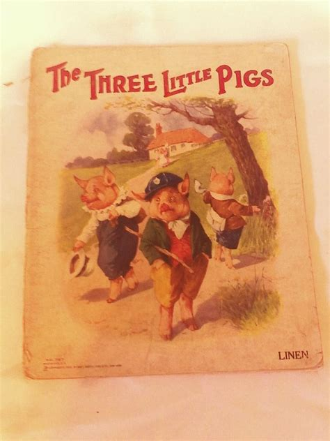 three pigs story book with pictures the three pigs 1923 children story book vintage