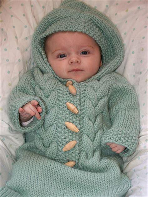 baby knitting top baby bunting