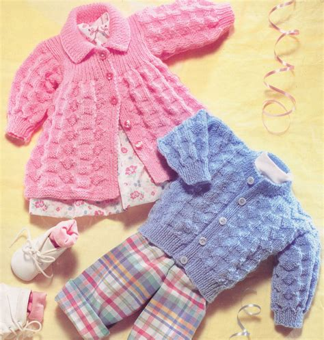 knitting patterns uk vintage baby matinee coat cardigan dk knitting pattern