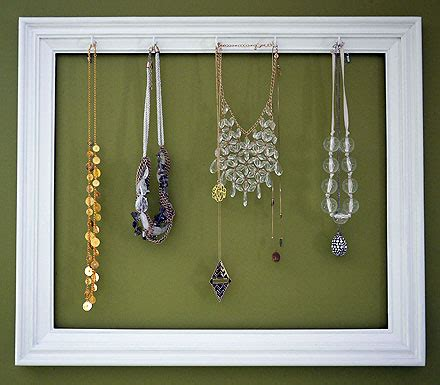 how to make jewelry holder picture frame supereasy diy picture frame necklace holder the budget