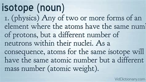 What Is The Definition Of Protons by Isotope Definition