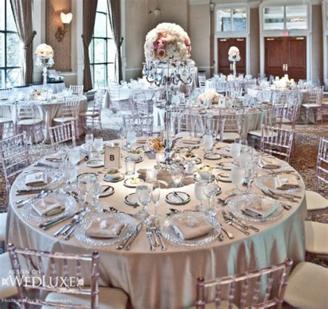 silver table decorations for silver wedding theme archives weddings romantique
