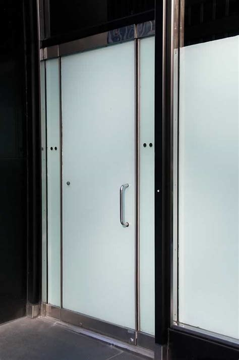 glass door black metal and frosted glass doors in