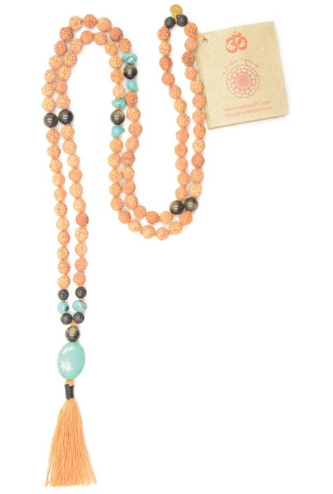 how many in a mala necklace healing mala necklace of rudraksha mala and turquoise