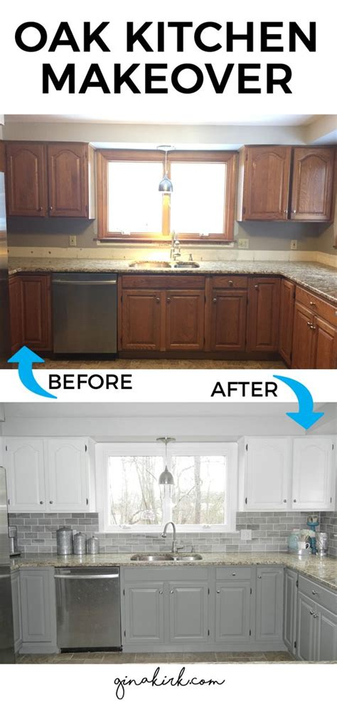 Kitchen Cabinets Makeover our oak kitchen makeover welcome home subway tile