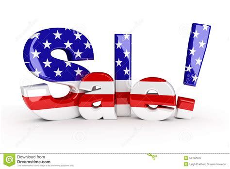 white sale memorial day or 4th of july sale stock illustration