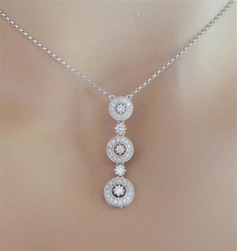 jewelry pendants 14k white gold diamonds circle pendant
