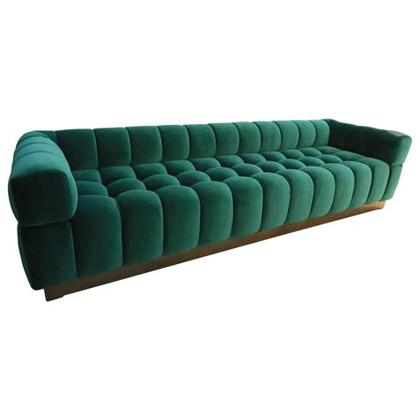 green velvet tufted sofa custom tufted green velvet sofa with brass base for sale