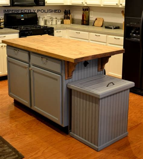 kitchen island trash how to build a trash can cover