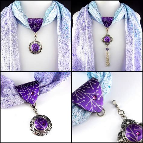 how to make scarf jewelry 2 claymates make your scarf jewelry interchangeable