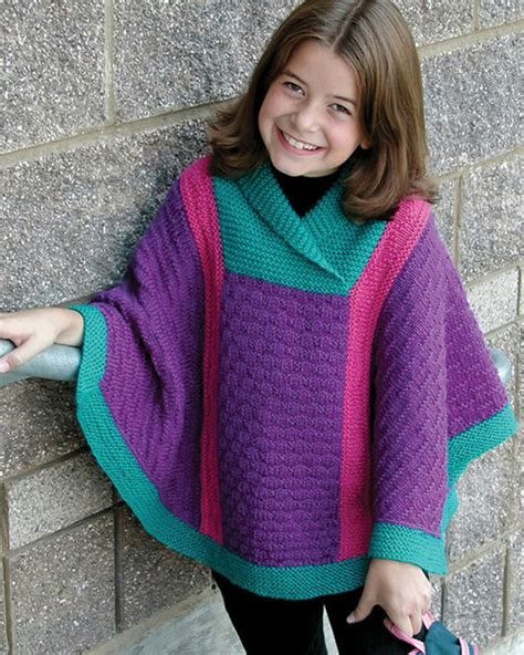 child s poncho knitting pattern ch43 valerie poncho in worsted weight