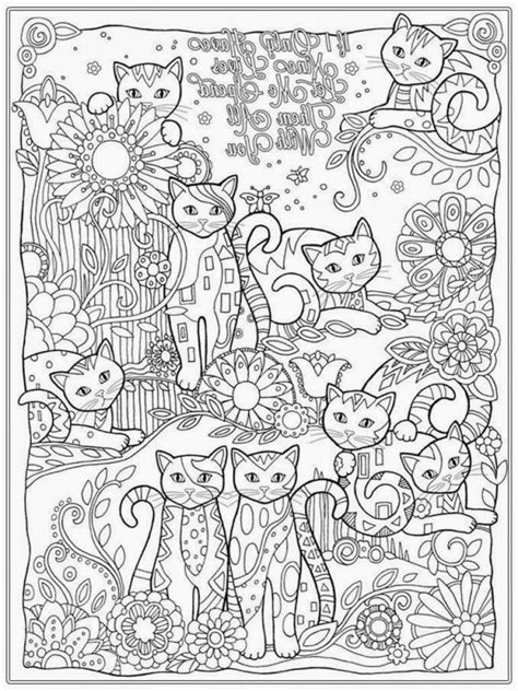 cat for adults cat coloring pages for adults bestofcoloring
