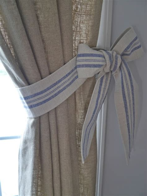 how to make curtain tie backs with diy bow curtain tie backs
