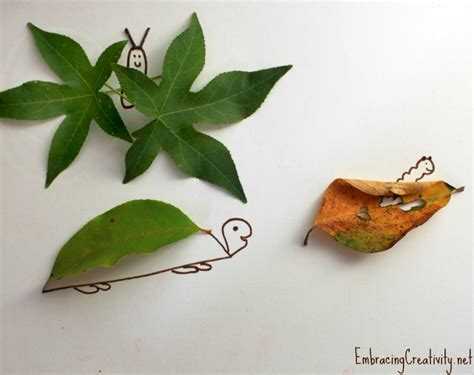crafts with leaves for leaf craft for embracing creativity