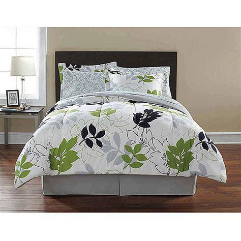 leaf comforter set mainstays coordinated bedding set botanical leaf
