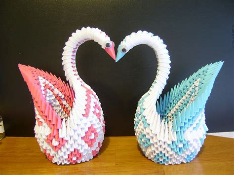how to make 3d origami animals origami maniacs 3d origami patterned swan