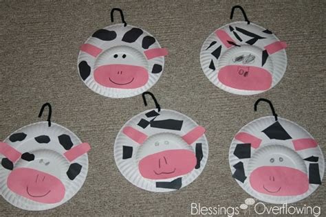 cow paper plate craft letter c cows