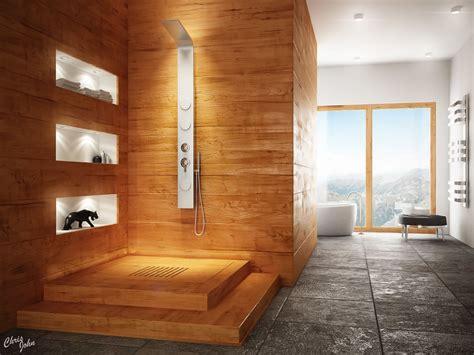 Modern Spa Bathroom by Modern Bathrooms With Spa Like Appeal
