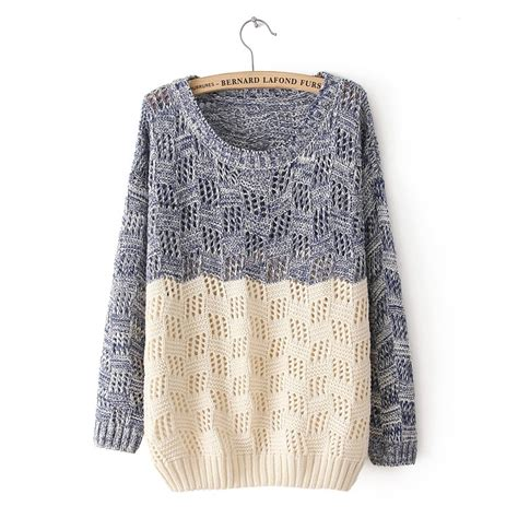knitted sweaters mixed color knit sweater for on luulla