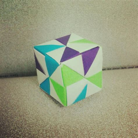 modular origami cube pin by on diy papier
