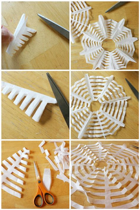 how to make a spider web craft for diy crafts coffee filter spiderwebs