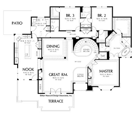Two Story House Plans With Master On Second Floor floor plans aflfpw01762 2 story traditional home with 4