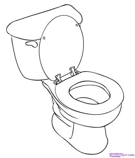 how to draw a toilet step by step stuff pop culture